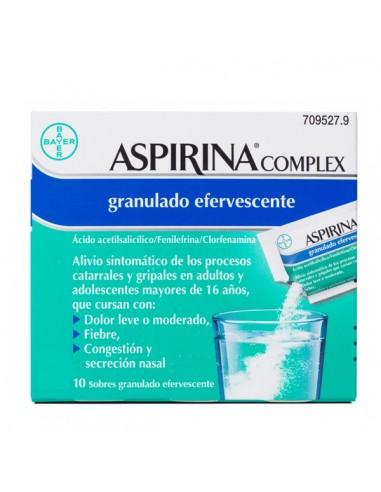 ASPIRINA COMPLEX 10 SOBRES GRANULADO...